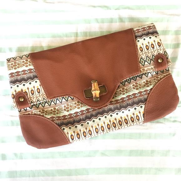 Handbags - Boho Clutch Purse Vegan Friendly Faux Leather
